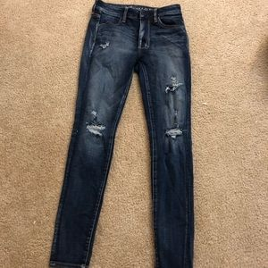 American Eagle Skinny Jeans- Some holes